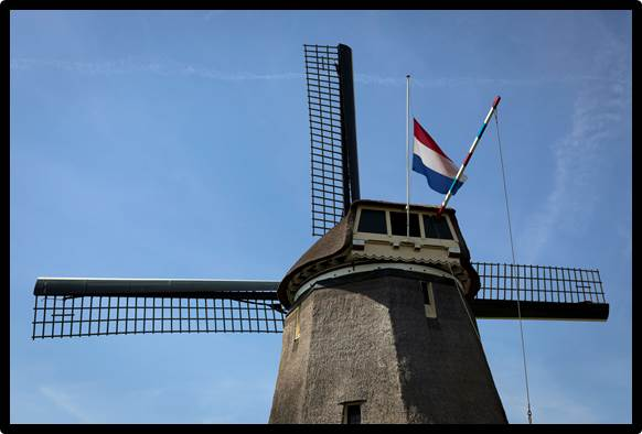 dutch flag at half mast